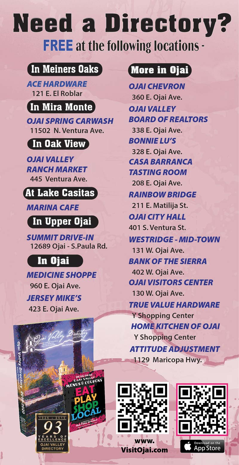 NEED A DIRECTORY? - Ojai Valley Directory